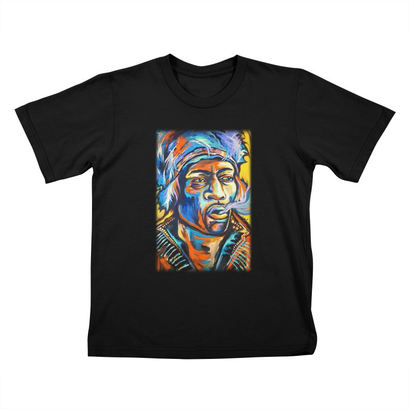 Jimi Hendrix Kids T-Shirt by amybelonio's Artist Shop