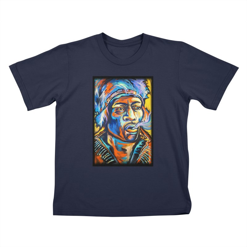 Jimi Hendrix Kids T-Shirt by amybelonio's Artist Shop