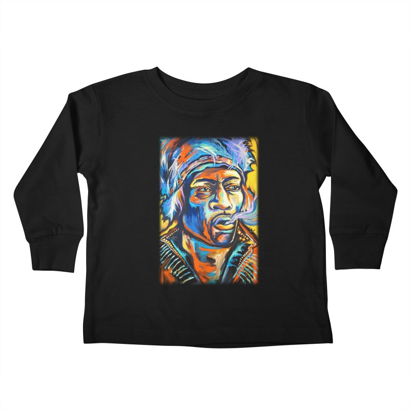 Jimi Hendrix Kids Toddler Longsleeve T-Shirt by amybelonio's Artist Shop