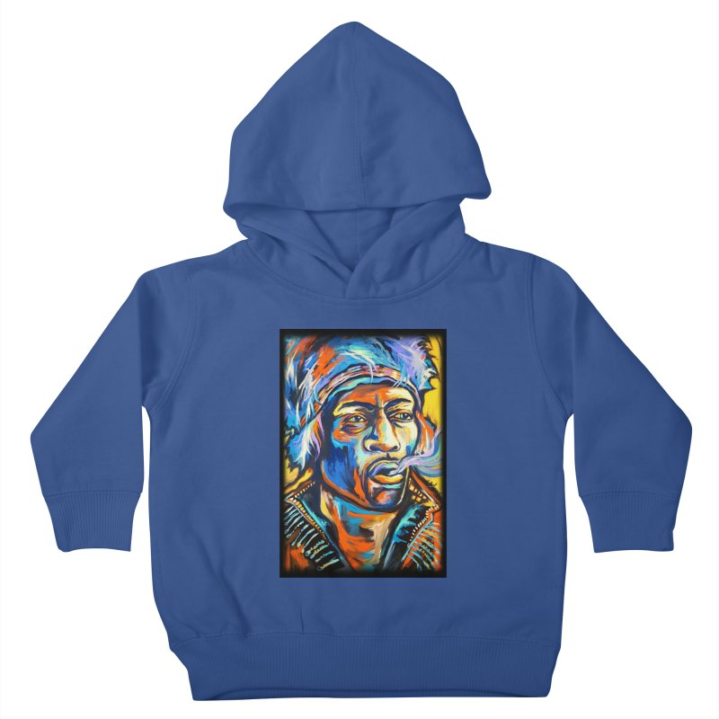 Jimi Hendrix Kids Toddler Pullover Hoody by amybelonio's Artist Shop