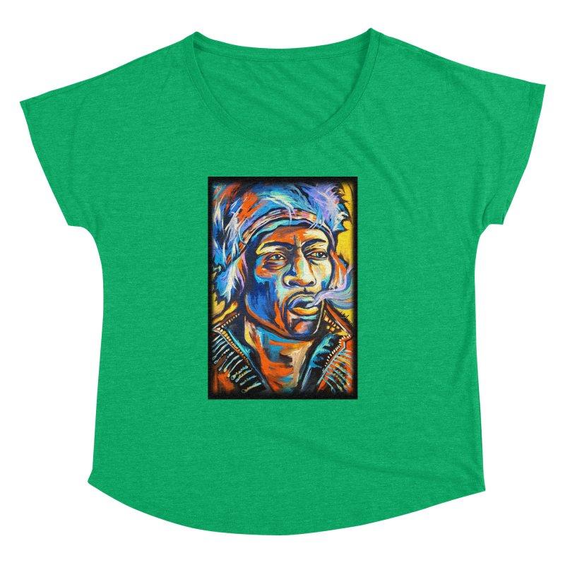 Jimi Hendrix Women's Dolman Scoop Neck by amybelonio's Artist Shop