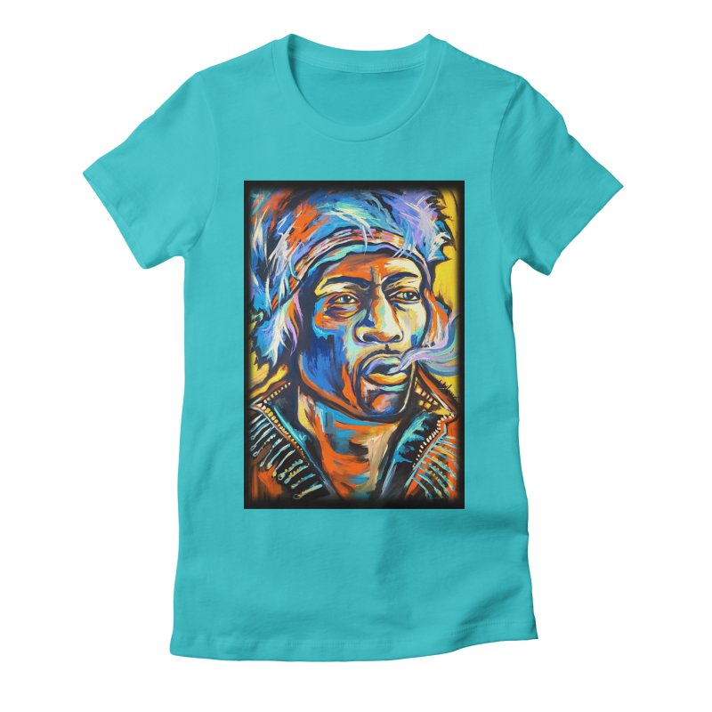 Jimi Hendrix Women's Fitted T-Shirt by amybelonio's Artist Shop
