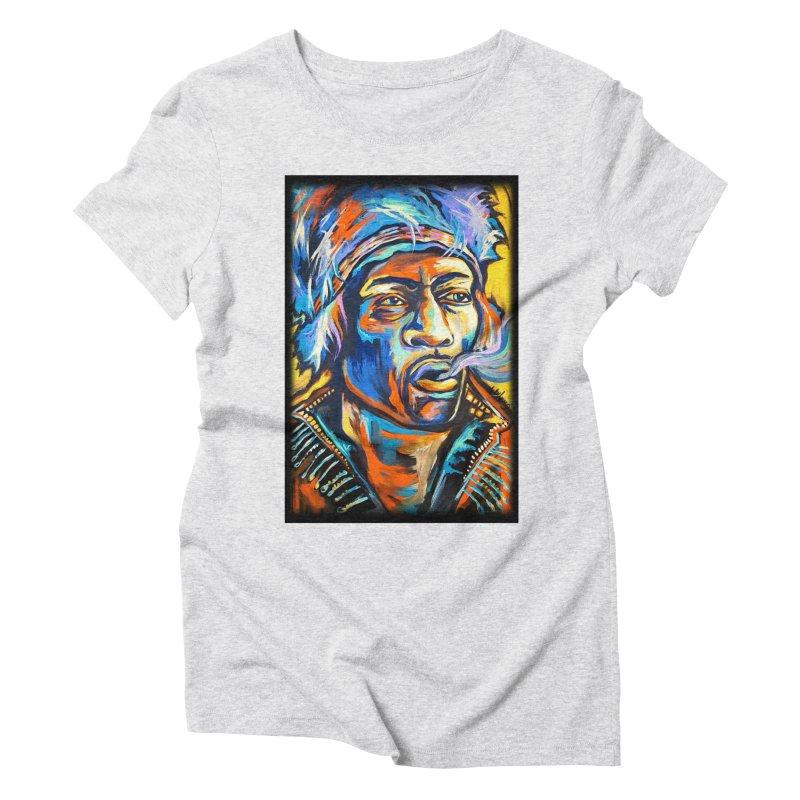 Jimi Hendrix Women's Triblend T-Shirt by amybelonio's Artist Shop