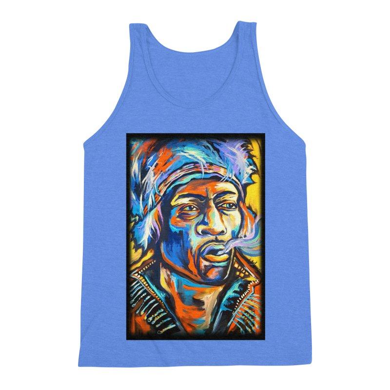 Jimi Hendrix Men's Triblend Tank by amybelonio's Artist Shop
