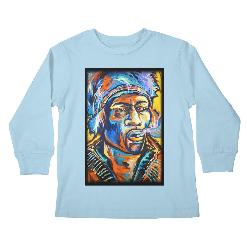 Jimi Hendrix Kids Longsleeve T-Shirt by amybelonio's Artist Shop