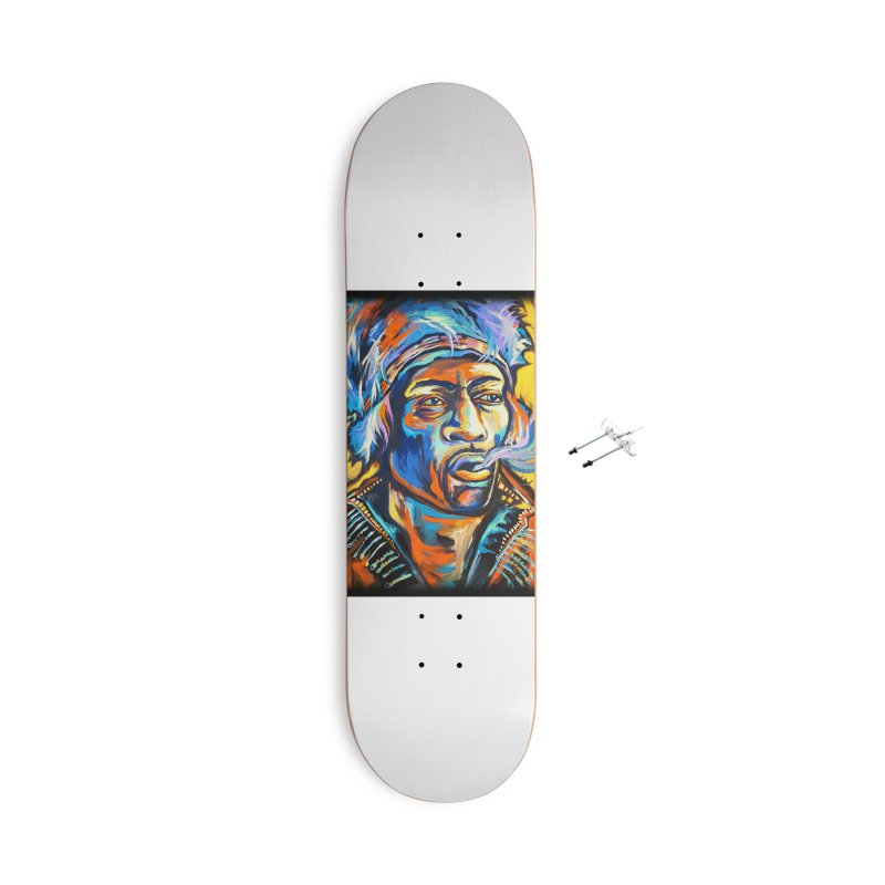 Jimi Hendrix Accessories With Hanging Hardware Skateboard by amybelonio's Artist Shop