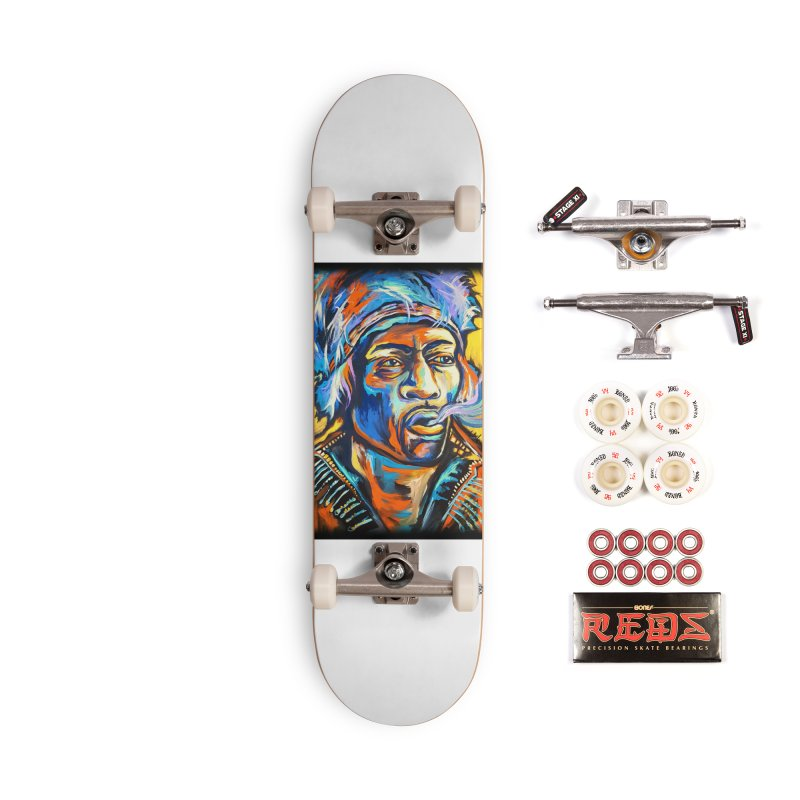 Jimi Hendrix Accessories Complete - Pro Skateboard by amybelonio's Artist Shop
