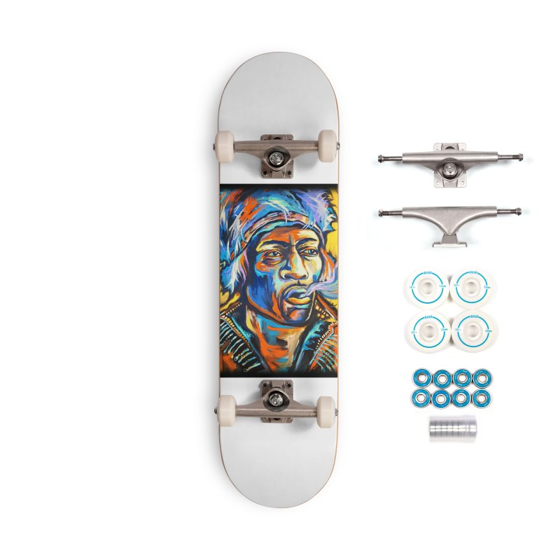 Jimi Hendrix Accessories Complete - Basic Skateboard by amybelonio's Artist Shop