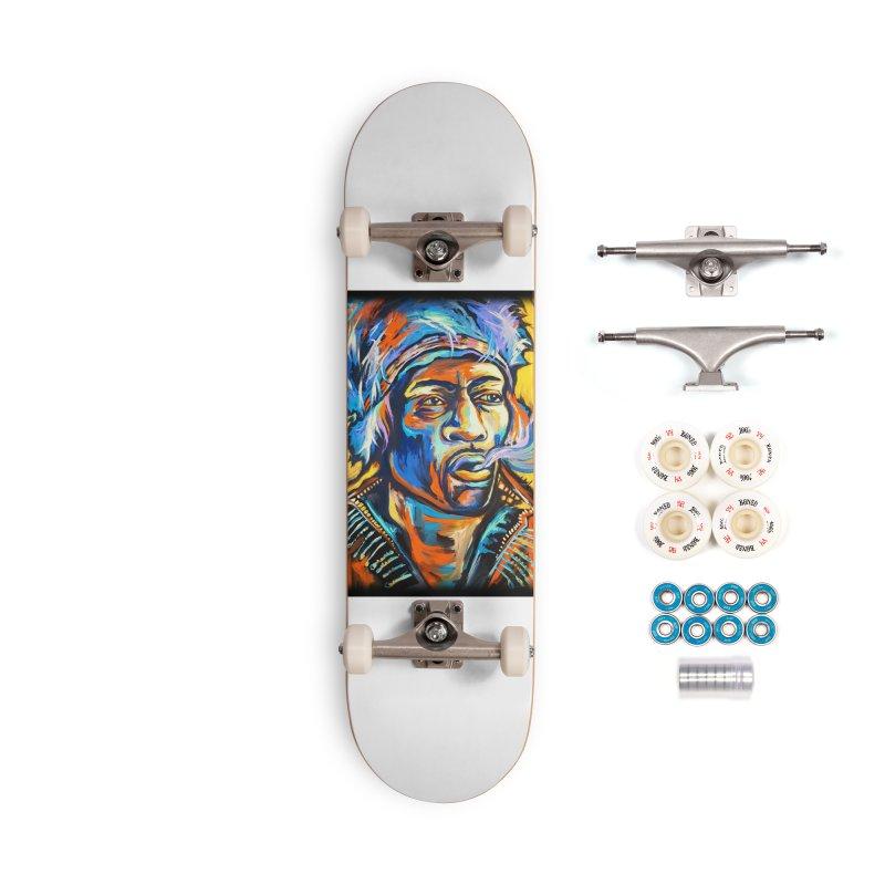 Jimi Hendrix Accessories Complete - Premium Skateboard by amybelonio's Artist Shop