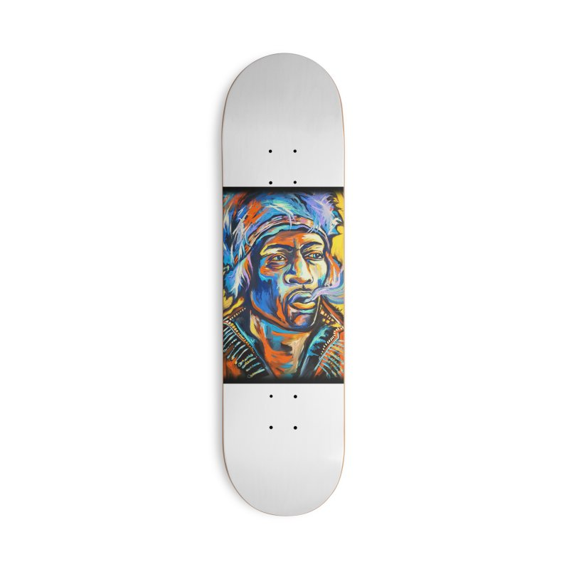 Jimi Hendrix Accessories Deck Only Skateboard by amybelonio's Artist Shop
