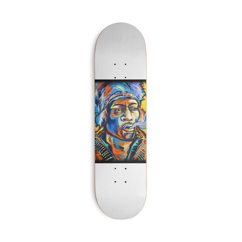 Jimi Hendrix Accessories Skateboard by amybelonio's Artist Shop