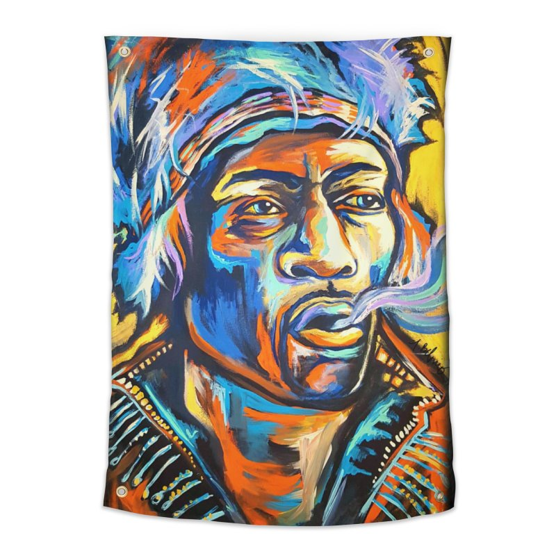 Jimi Hendrix Home Tapestry by amybelonio's Artist Shop