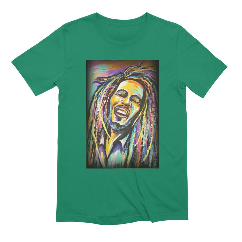 Bob Marley Men's Extra Soft T-Shirt by amybelonio's Artist Shop