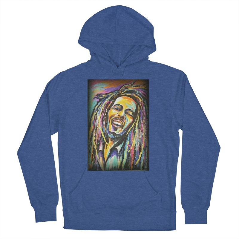 Bob Marley Women's French Terry Pullover Hoody by amybelonio's Artist Shop