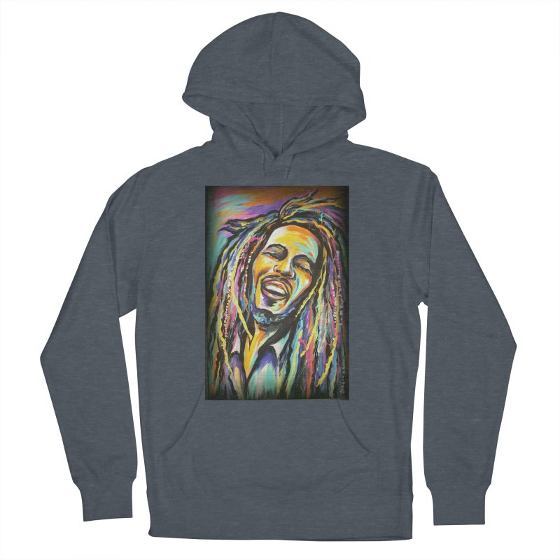 Bob Marley Men's French Terry Pullover Hoody by amybelonio's Artist Shop