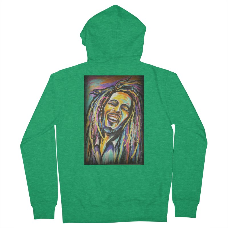 Bob Marley Women's French Terry Zip-Up Hoody by amybelonio's Artist Shop