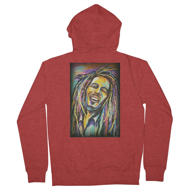 Bob Marley Men's French Terry Zip-Up Hoody by amybelonio's Artist Shop