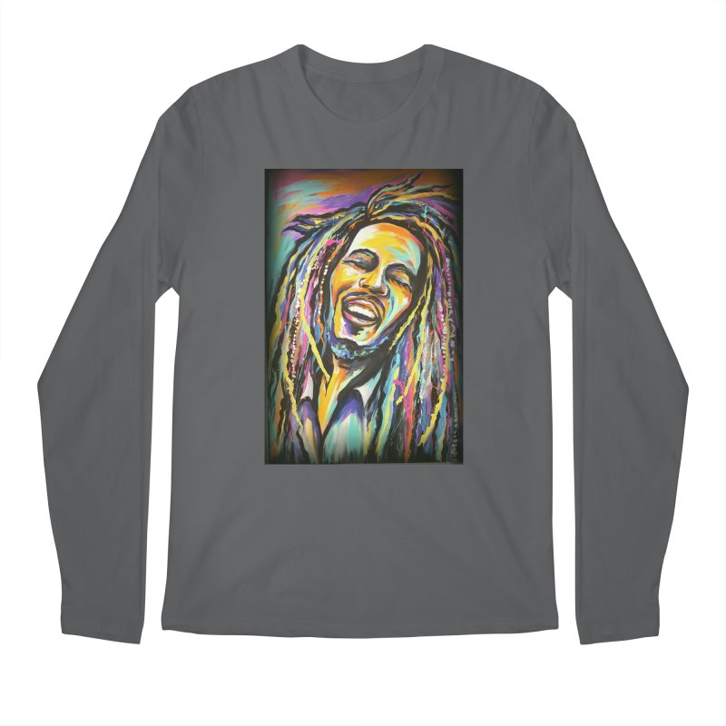 Bob Marley Men's Regular Longsleeve T-Shirt by amybelonio's Artist Shop