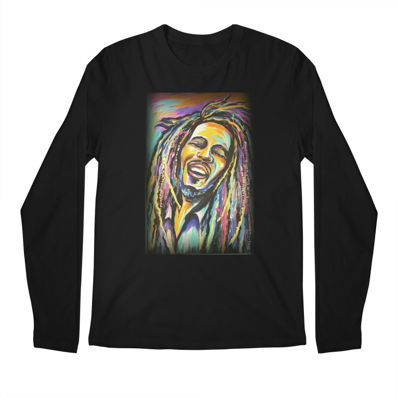 Bob Marley Men's Regular Longsleeve T-Shirt by amybelonio's Artist Shop