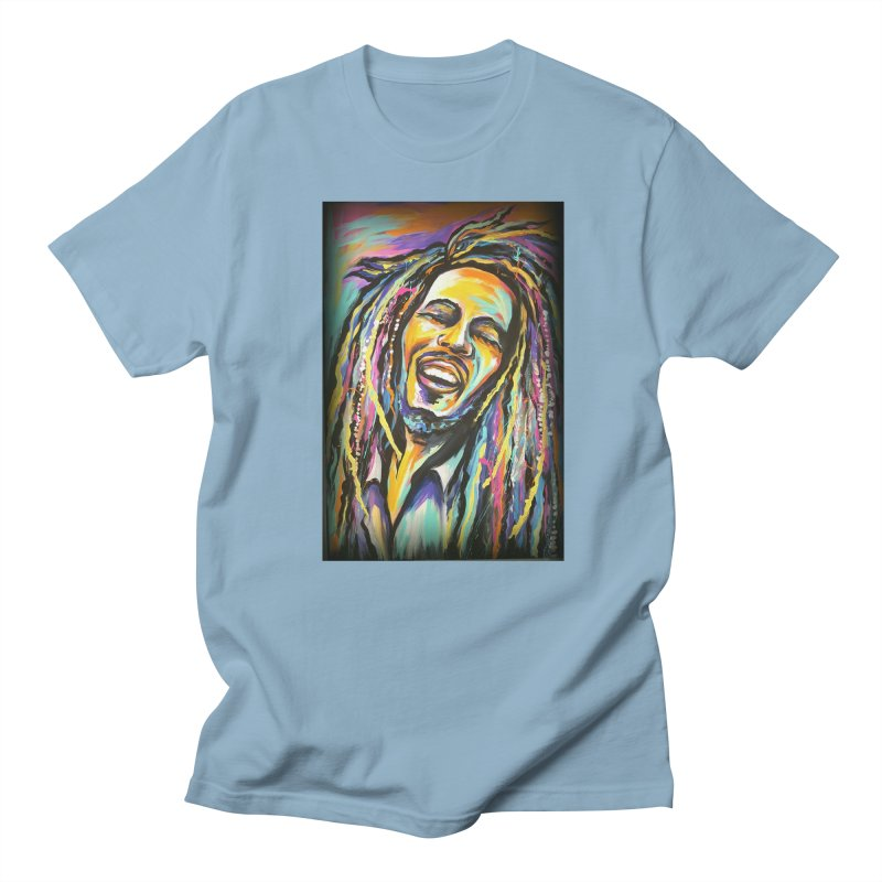Bob Marley Men's T-Shirt by amybelonio's Artist Shop