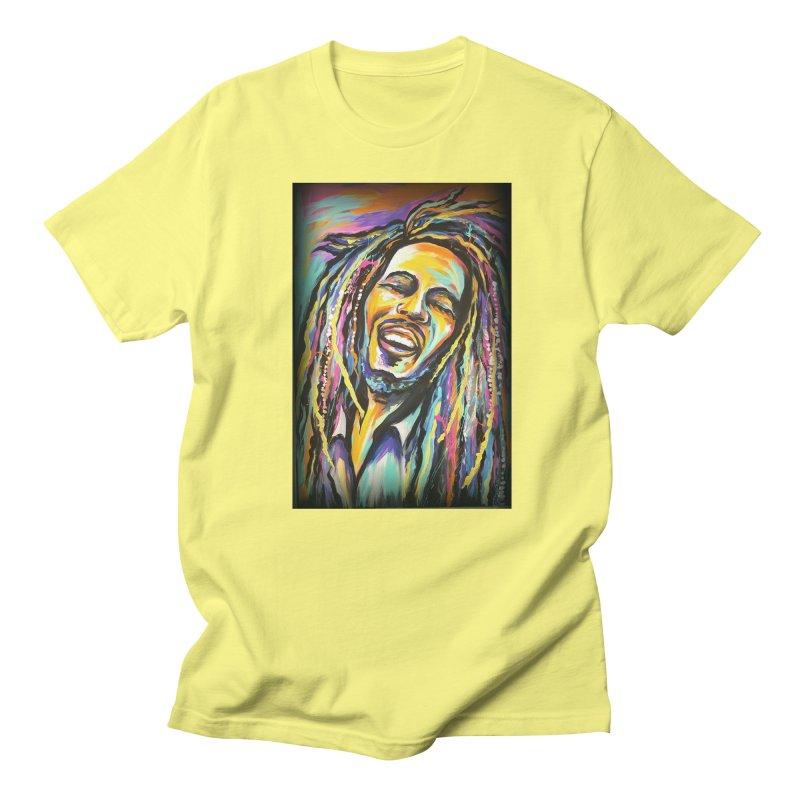 Bob Marley Men's T-Shirt by amybelonio's Artist Shop