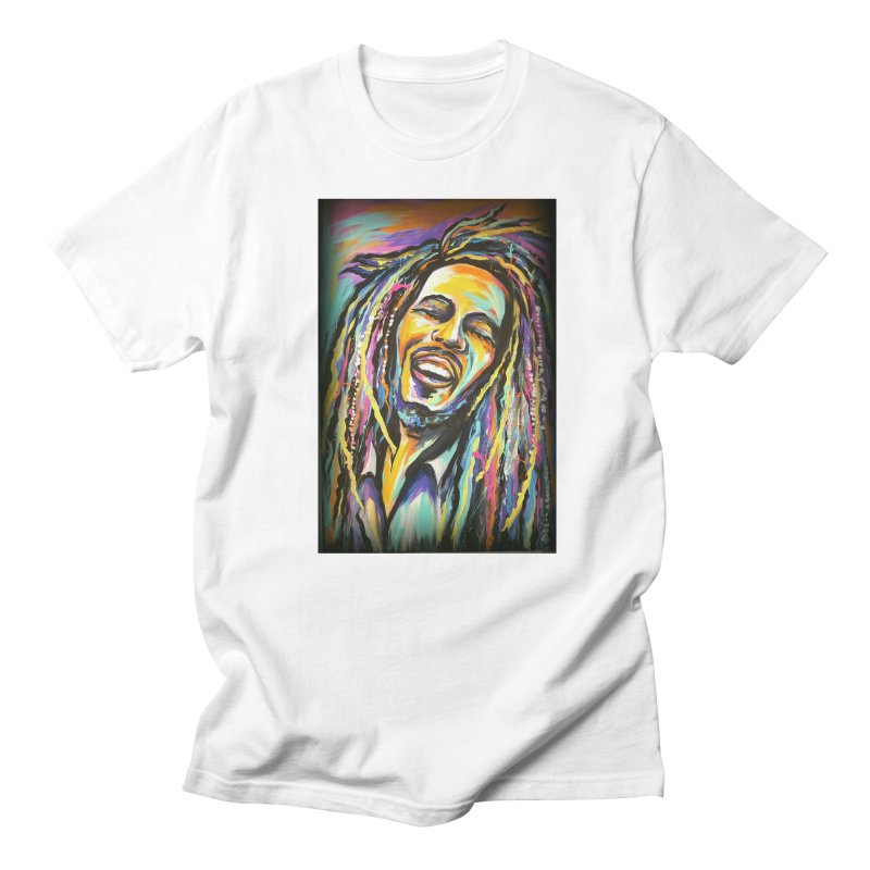 Bob Marley Men's Regular T-Shirt by amybelonio's Artist Shop
