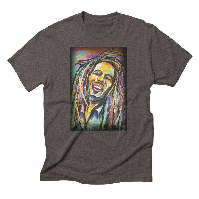 Bob Marley Men's Triblend T-Shirt by amybelonio's Artist Shop