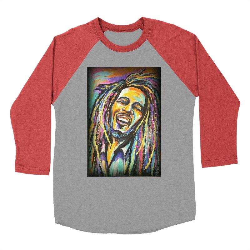 Bob Marley Men's Baseball Triblend Longsleeve T-Shirt by amybelonio's Artist Shop