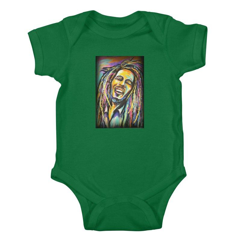 Bob Marley Kids Baby Bodysuit by amybelonio's Artist Shop