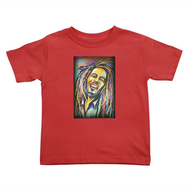 Bob Marley Kids Toddler T-Shirt by amybelonio's Artist Shop