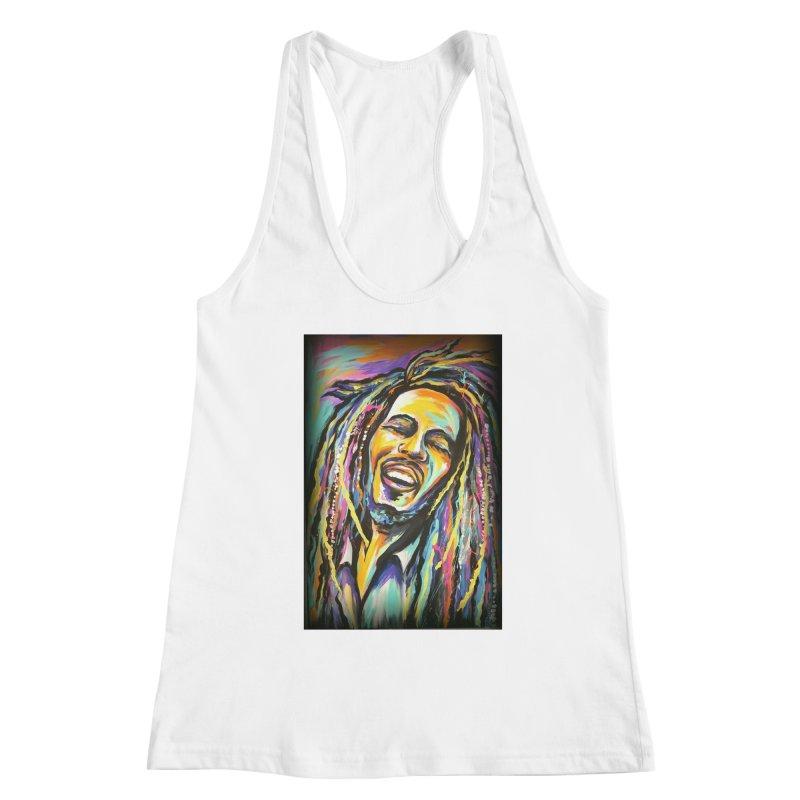 Bob Marley Women's Racerback Tank by amybelonio's Artist Shop