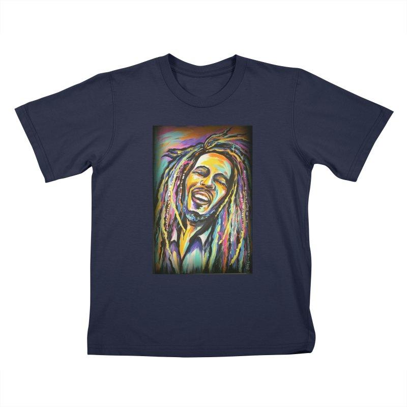Bob Marley Kids T-Shirt by amybelonio's Artist Shop