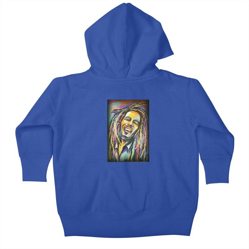 Bob Marley Kids Baby Zip-Up Hoody by amybelonio's Artist Shop