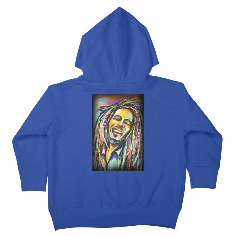 Bob Marley Kids Toddler Zip-Up Hoody by amybelonio's Artist Shop