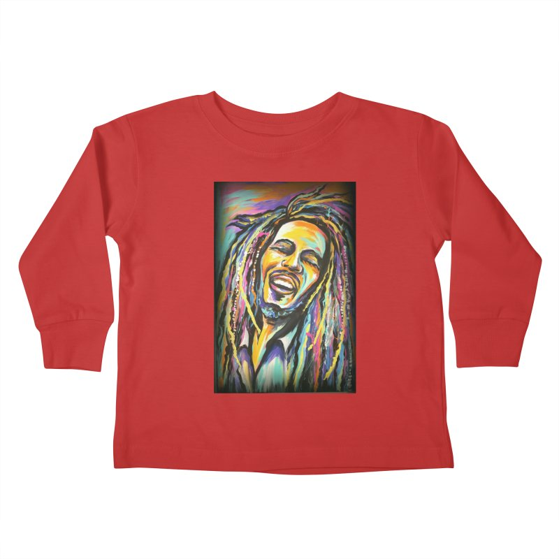 Bob Marley Kids Toddler Longsleeve T-Shirt by amybelonio's Artist Shop