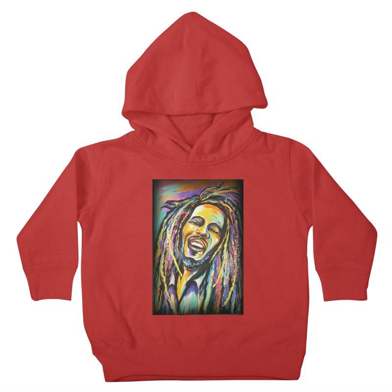 Bob Marley Kids Toddler Pullover Hoody by amybelonio's Artist Shop