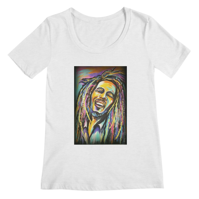 Bob Marley Women's Scoop Neck by amybelonio's Artist Shop