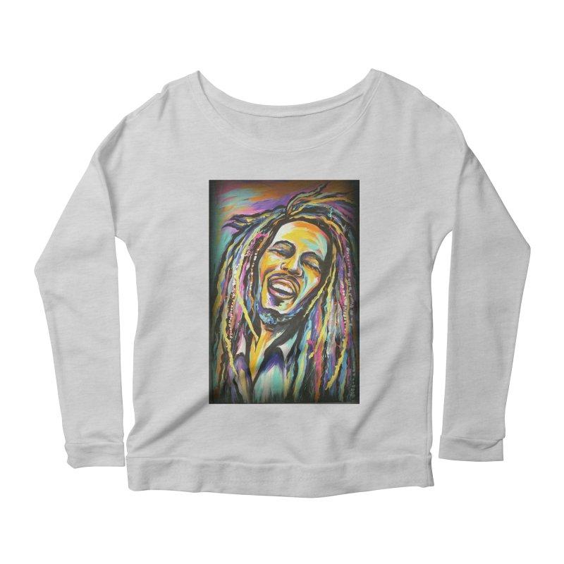 Bob Marley Women's Scoop Neck Longsleeve T-Shirt by amybelonio's Artist Shop