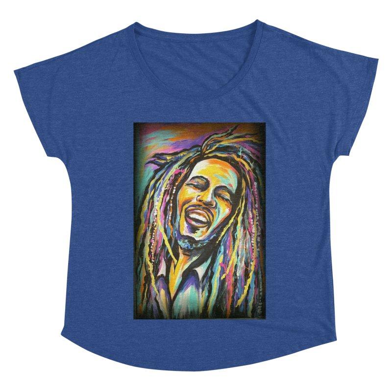 Bob Marley Women's Dolman Scoop Neck by amybelonio's Artist Shop