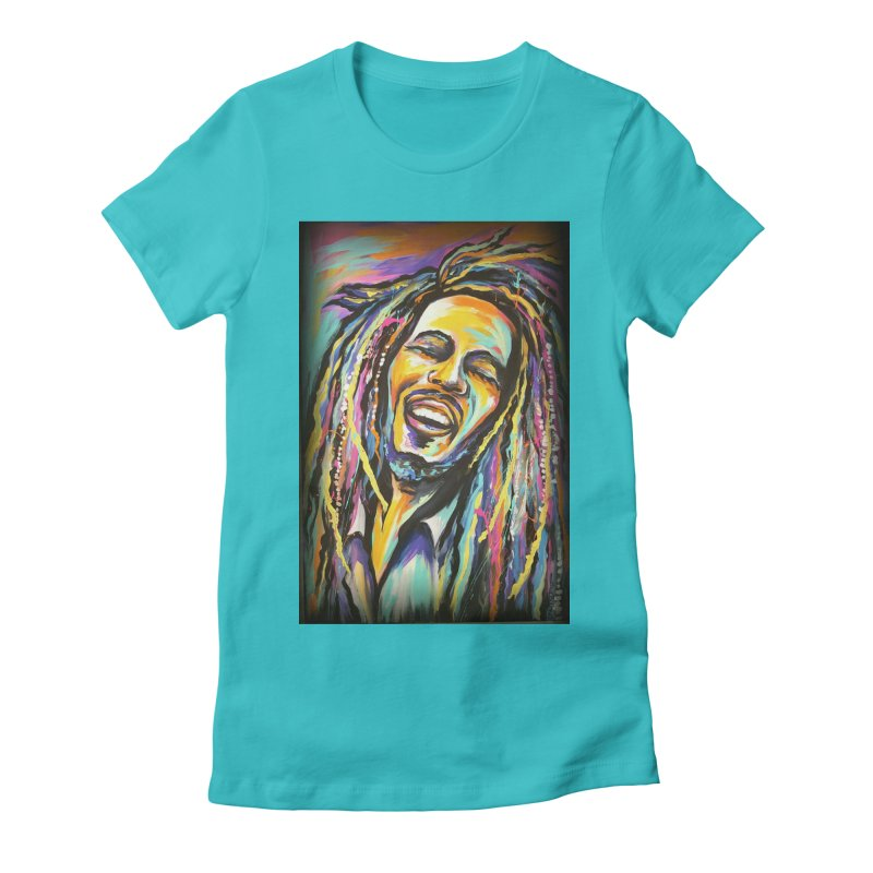 Bob Marley Women's Fitted T-Shirt by amybelonio's Artist Shop