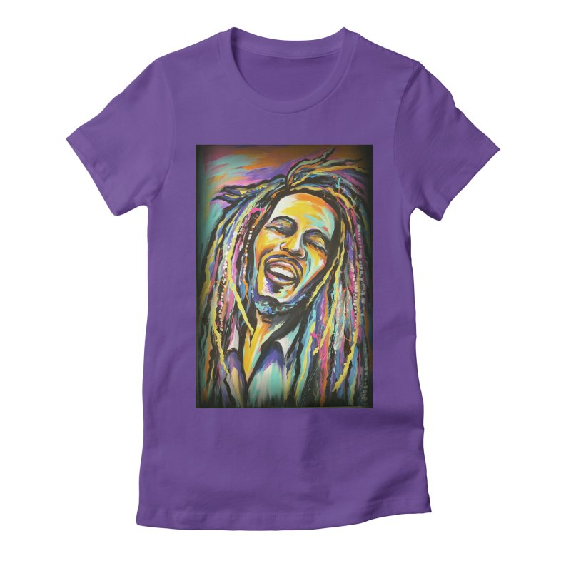 Bob Marley Women's T-Shirt by amybelonio's Artist Shop