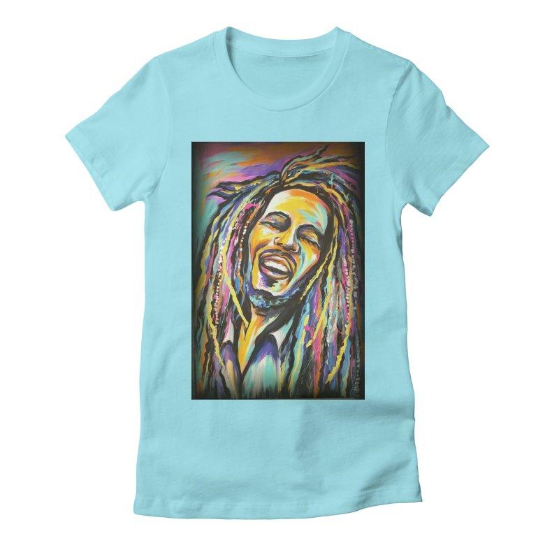 Bob Marley Women's T-Shirt by amybelonio's Artist Shop