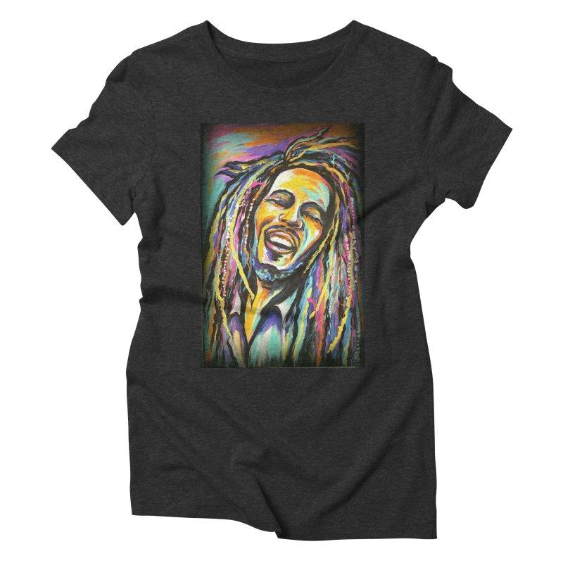 Bob Marley Women's Triblend T-Shirt by amybelonio's Artist Shop