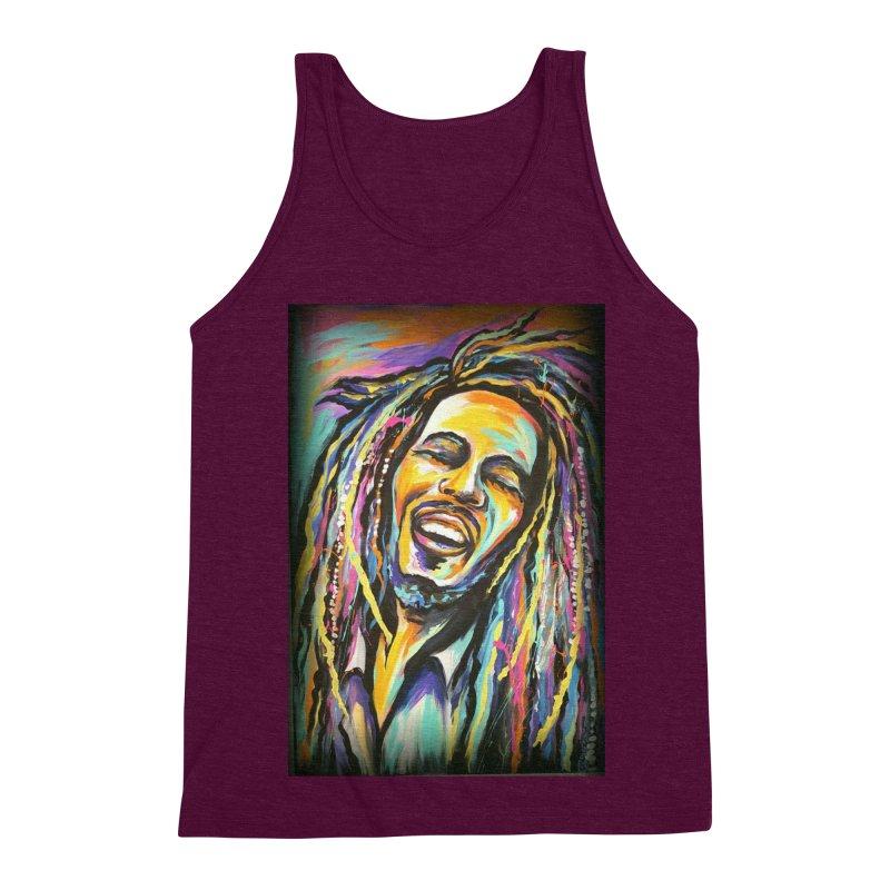 Bob Marley Men's Triblend Tank by amybelonio's Artist Shop