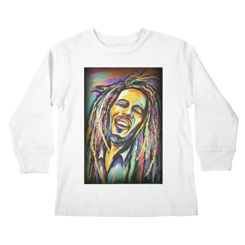 Bob Marley Kids Longsleeve T-Shirt by amybelonio's Artist Shop