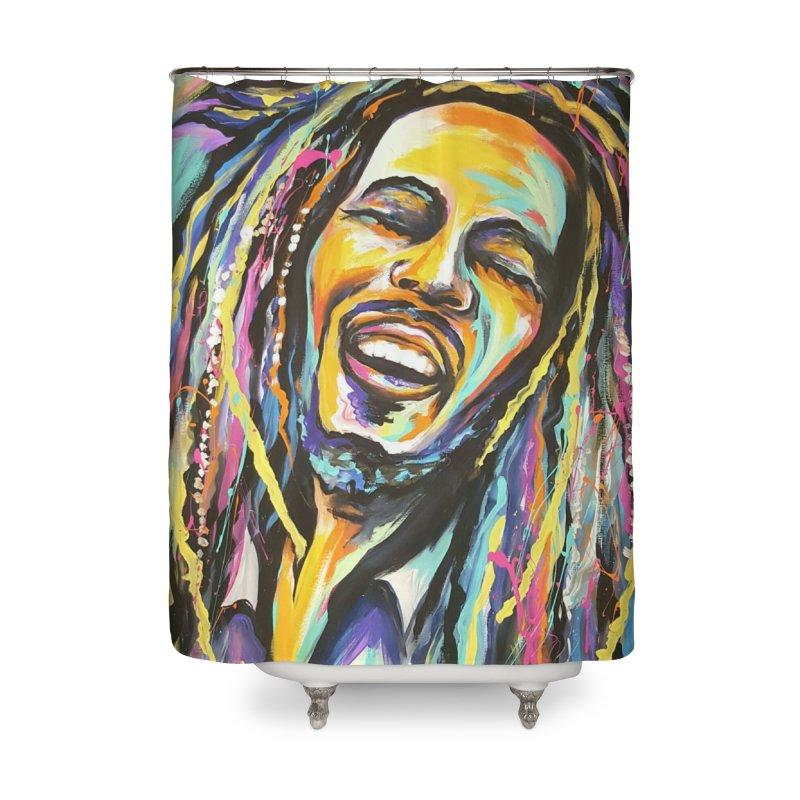 Bob Marley Home Shower Curtain by amybelonio's Artist Shop