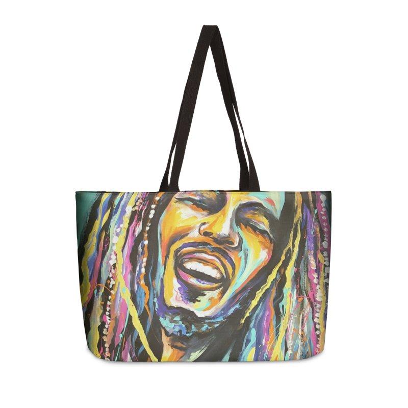 Bob Marley Accessories Weekender Bag Bag by amybelonio's Artist Shop
