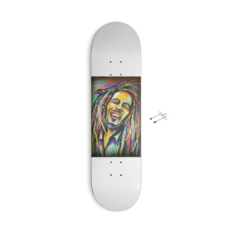 Bob Marley Accessories With Hanging Hardware Skateboard by amybelonio's Artist Shop