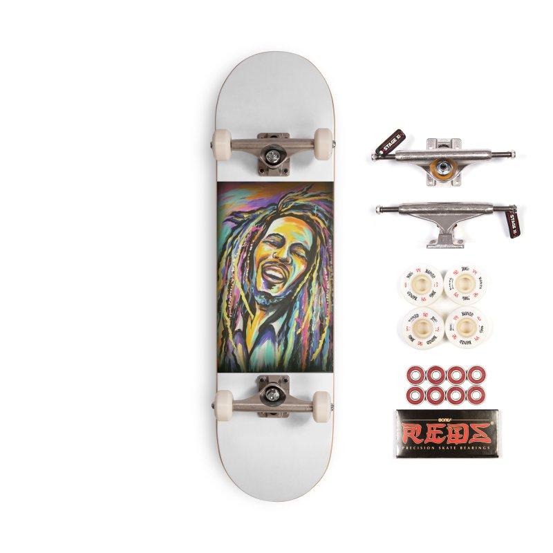 Bob Marley Accessories Complete - Pro Skateboard by amybelonio's Artist Shop