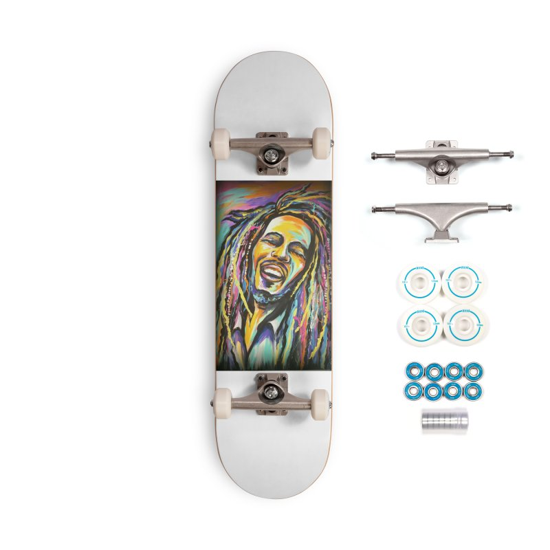 Bob Marley Accessories Complete - Basic Skateboard by amybelonio's Artist Shop